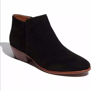 Sam Edelman Petty Black Suede Ankle Boots